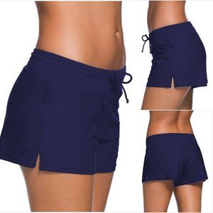 Merona Bikini Bottom Swim Shorts Navy Blue Size XL